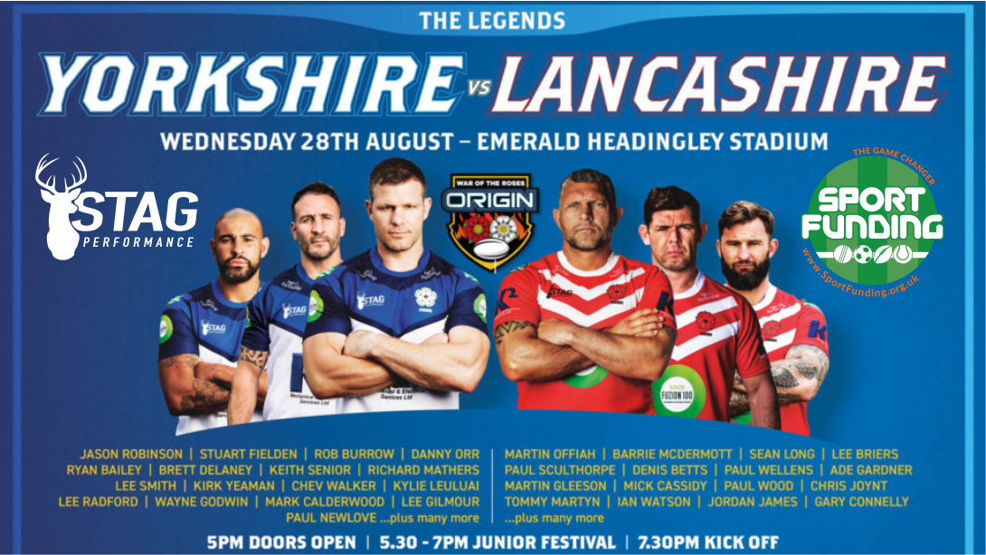 Origin Legends, Yorkshire vs Lancashire